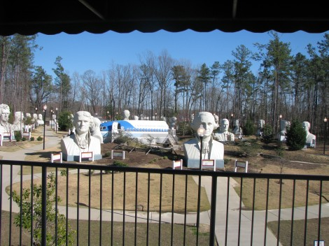 Park with Giant Busts of US Presidents